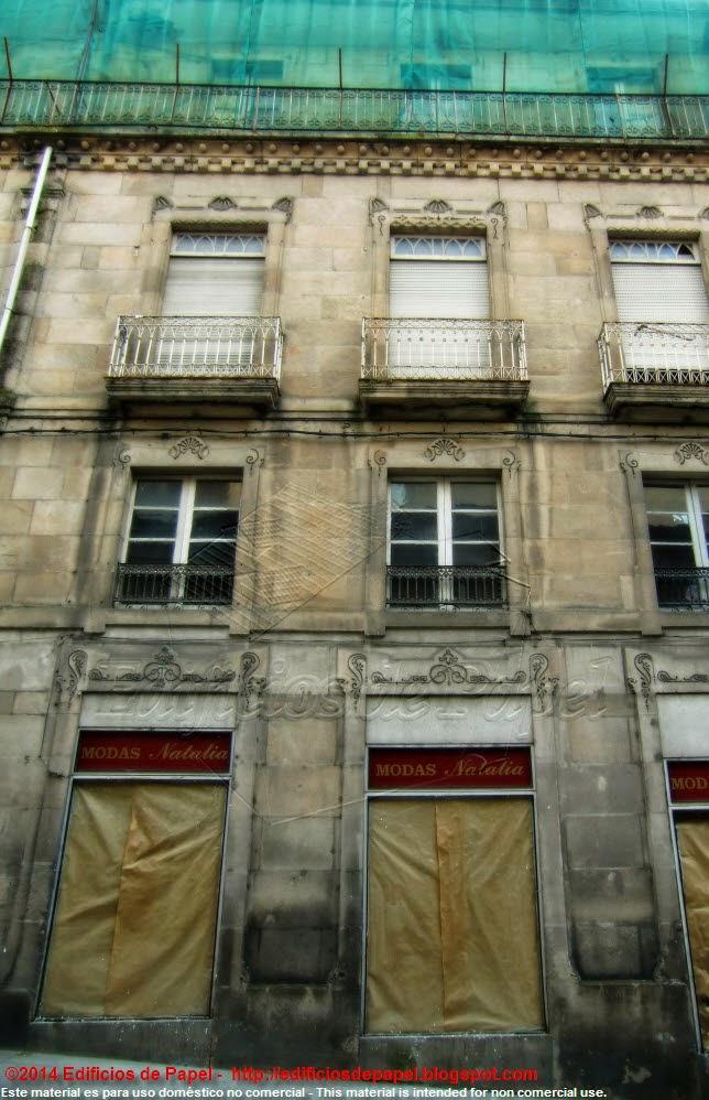 Detalle de la fachada, Ourense