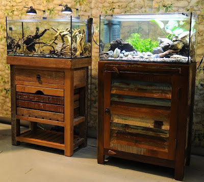 Small cabinets for aquarium set 60cm