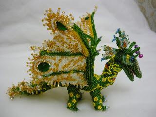 Объемная игрушка дракон из бисера