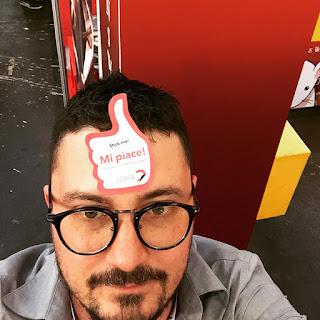 Diego Tonini in tutto il suo splendore al salone del libro di Torino 2015