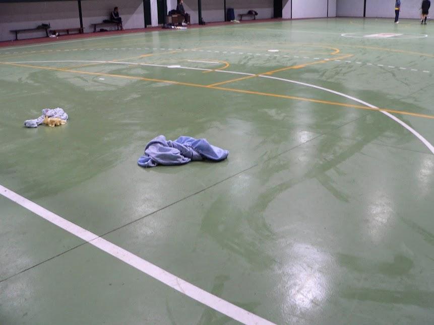 Imágenes con desperfectos del Pabellon deportivo de La Alberca