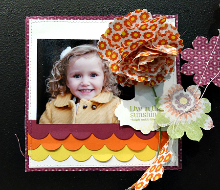 Live in the Sunshine Bold Scrapbook Page