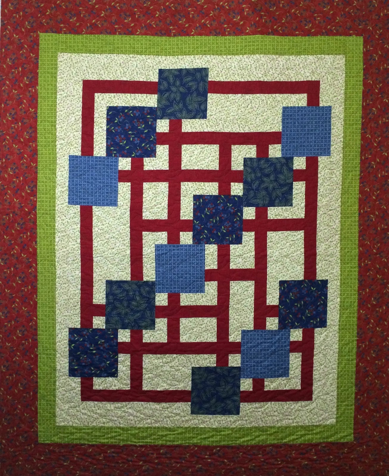 Kathleen Brimberry's Floating Squares Quilt