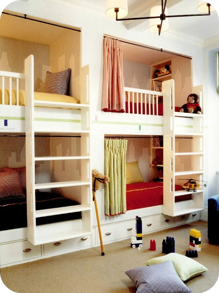 Modern country style girls 39 bedrooms bunk beds 4 beds in one room