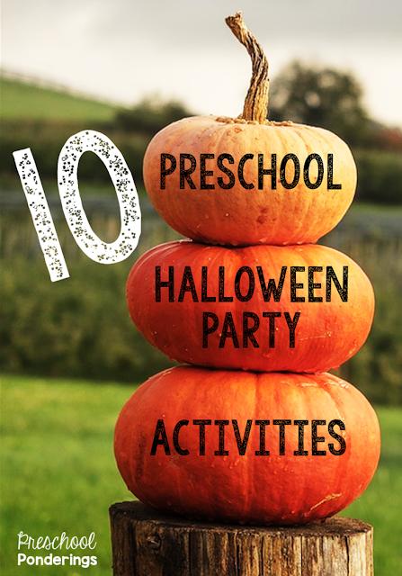 Preschool ponderings preschool halloween party activities for Halloween party games for preschoolers