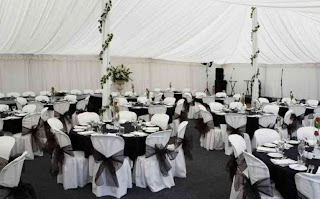 Black White Wedding Reception Decorations