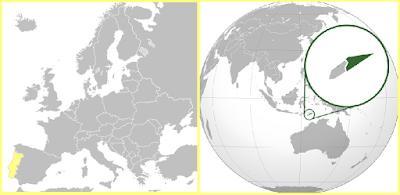 Mapa Portugal Timor