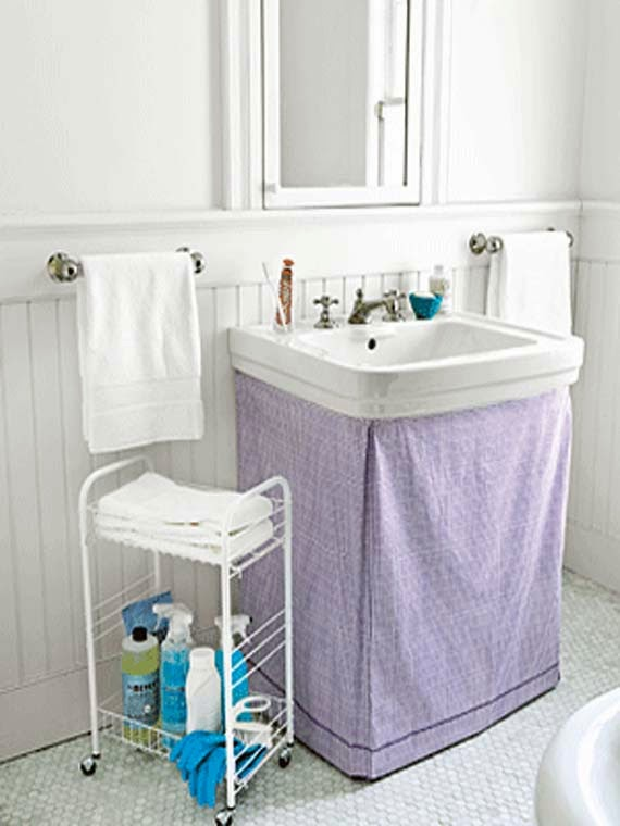 Creative storage solutions for small bathrooms ayanahouse for Small bathroom solutions