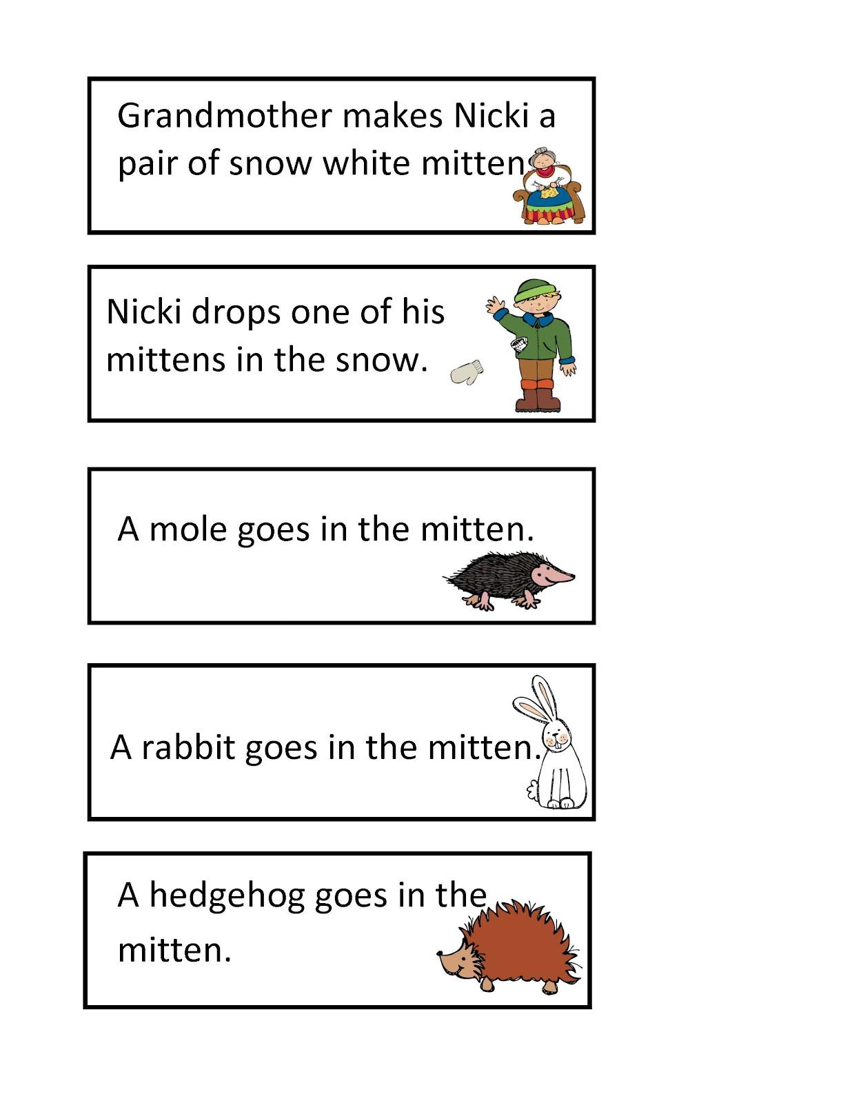 Mitten Pattern Printable The mitten printable