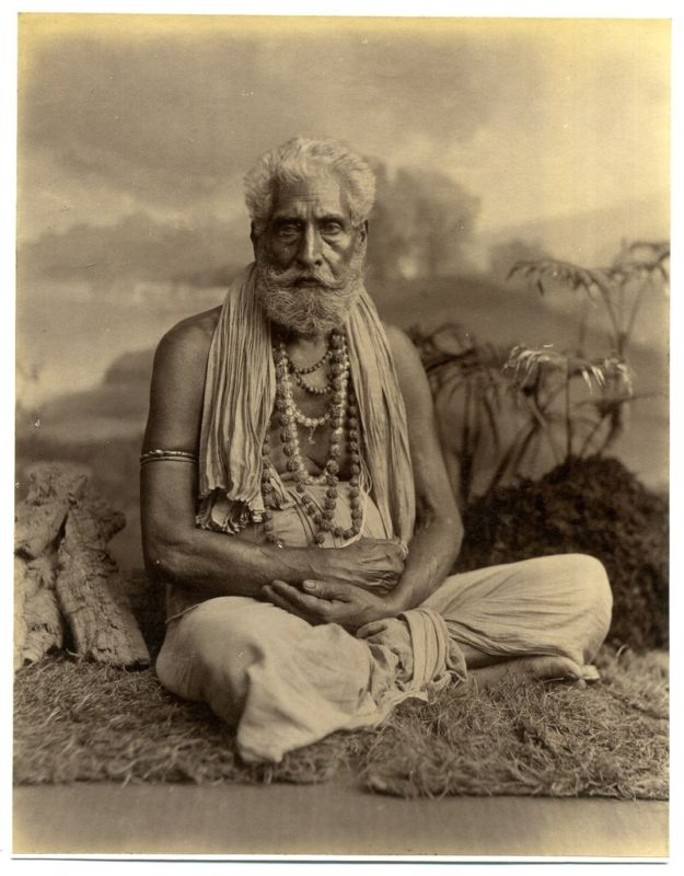 Hindu Priest Yogi Swami, Wearing Various Strands including Rudraksha Beads