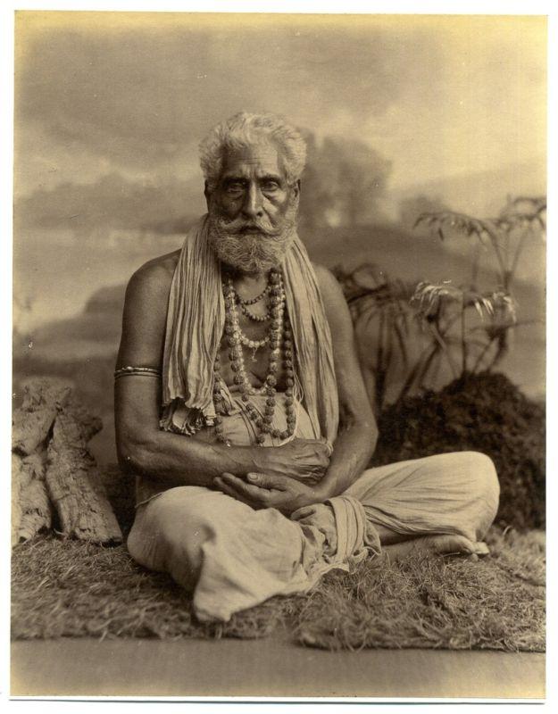 Hindu Priest Yogi Swami, Wearing Various Strands including ...