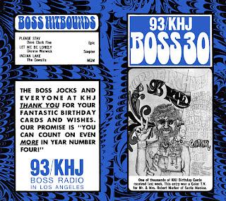 KHJ Boss 30 No. 149 - KHJ Birthday Card