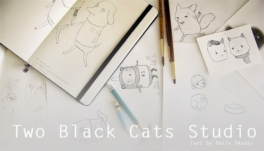 Two Black Cats Studio - Art by Darla Okada