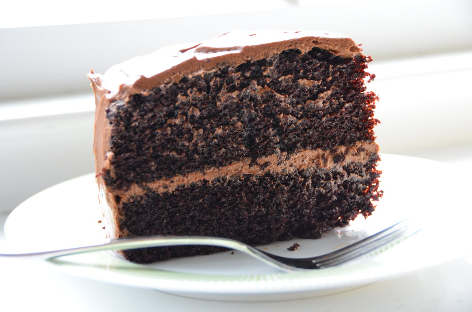 Moist Dark Chocolate Bundt Cake