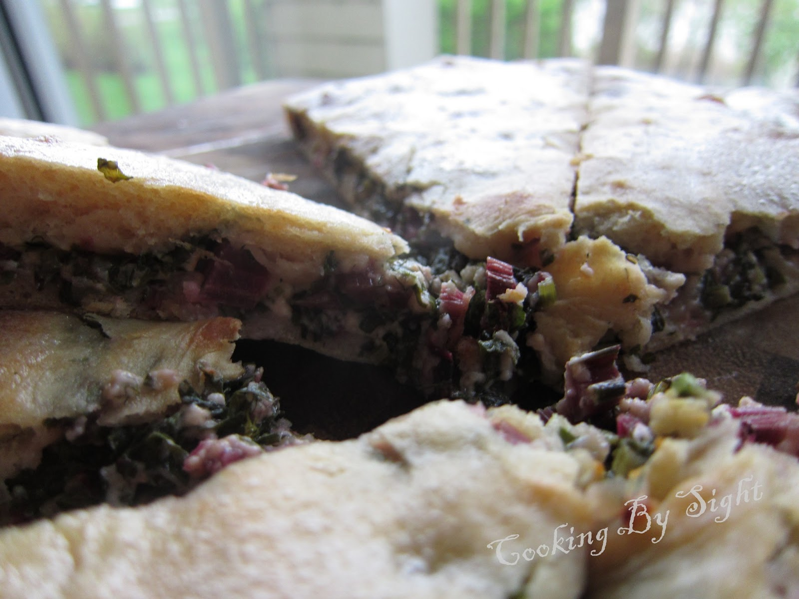 A simple Ossetian pie recipe with cheese and beetroot leaves