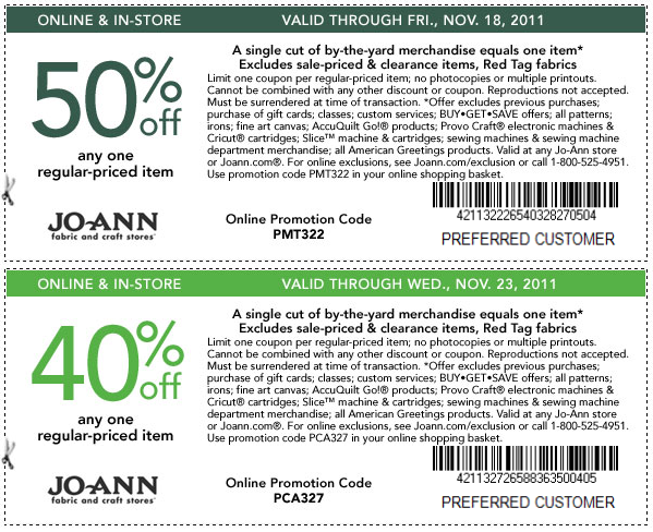 How to Use Joann Fabric Coupons: After filling your bag with the items you plan to purchase on this order, proceed to the checkout page to apply discounts.