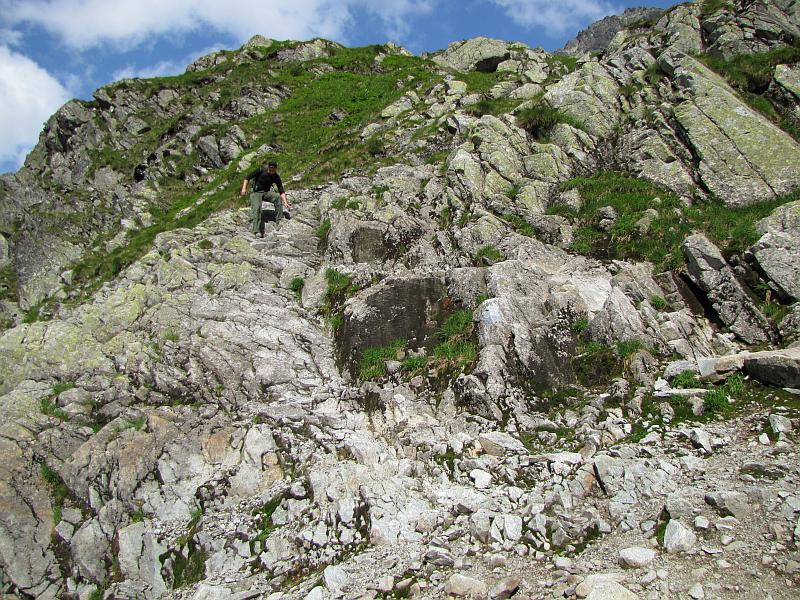 Zejście z Koziej Dolinki.