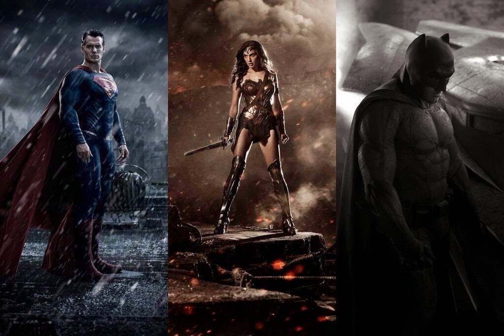 Batman v. Superman - Ben Affleck as Batman, Gal Gadot as Wonder Woman & Henry Cavill as Superman