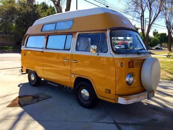 used rvs 1976 volkswagen t2 high top campervan for sale by. Black Bedroom Furniture Sets. Home Design Ideas