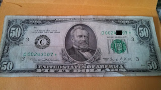 Circulated 1969 C $50 Star Note Found at a Bank