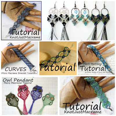 Micro macrame tutorials from Knot Just Macrame.
