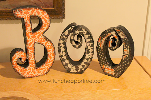 Completed wooden Boo, from Fun Cheap or Free