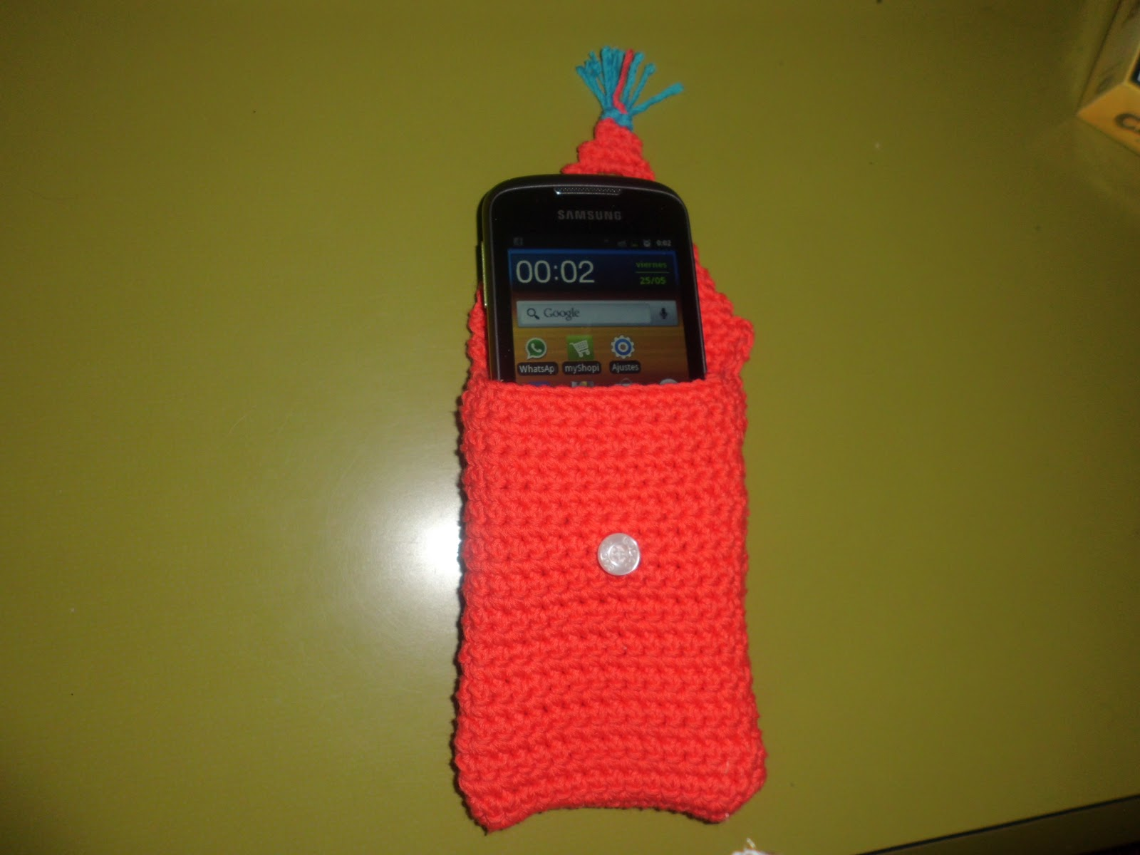 funda smartphone croché