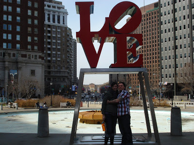 Love in love park, taking special occasion photos