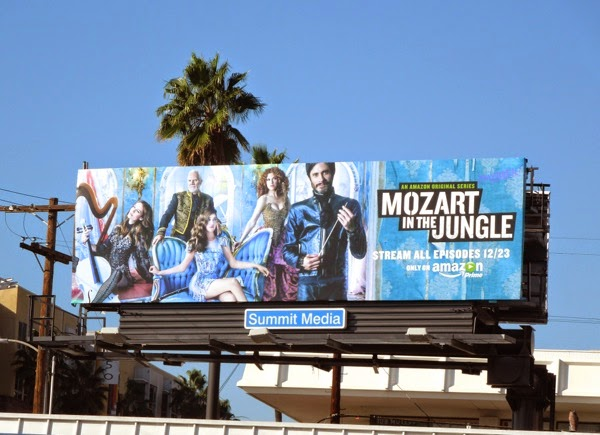Mozart in the Jungle series premiere billboard