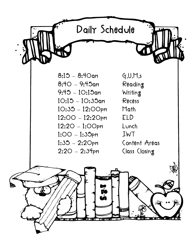 schedule daily schedule cards teaching in room 6 on first grade daily schedule template