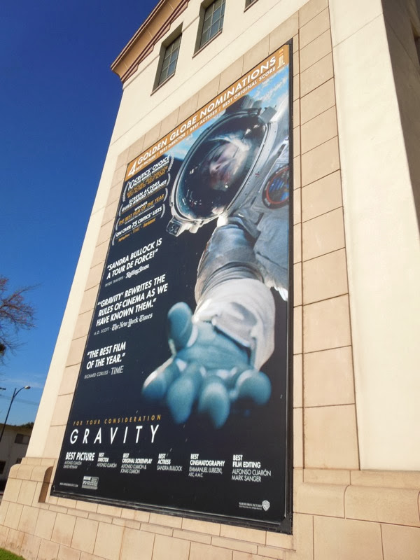 Gravity Golden Globe nomination billboard