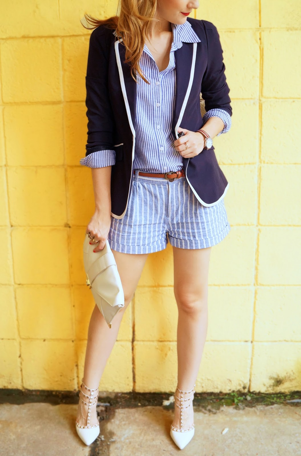 Cute Nautical Outfit in a Shorts Suit