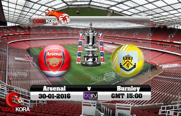 مشاهدة مباراة آرسنال وبيرنلي اليوم 30-1-2016 في كأس الإتحاد الإنجليزي