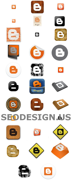 53 Free Blogger Vector Logo Icons Set Download