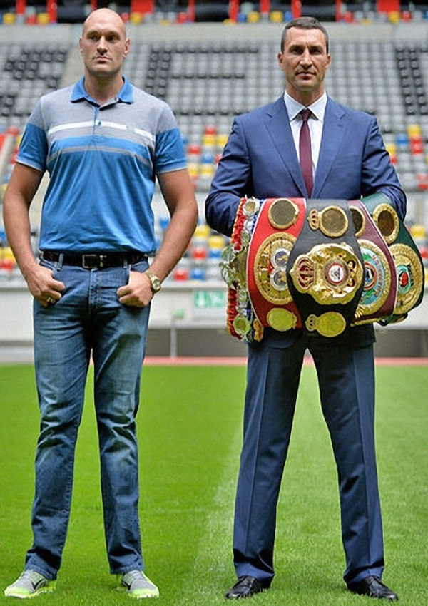 how tall is tyson fury and wladimir klitschko celebrity heights how tall are celebrities. Black Bedroom Furniture Sets. Home Design Ideas