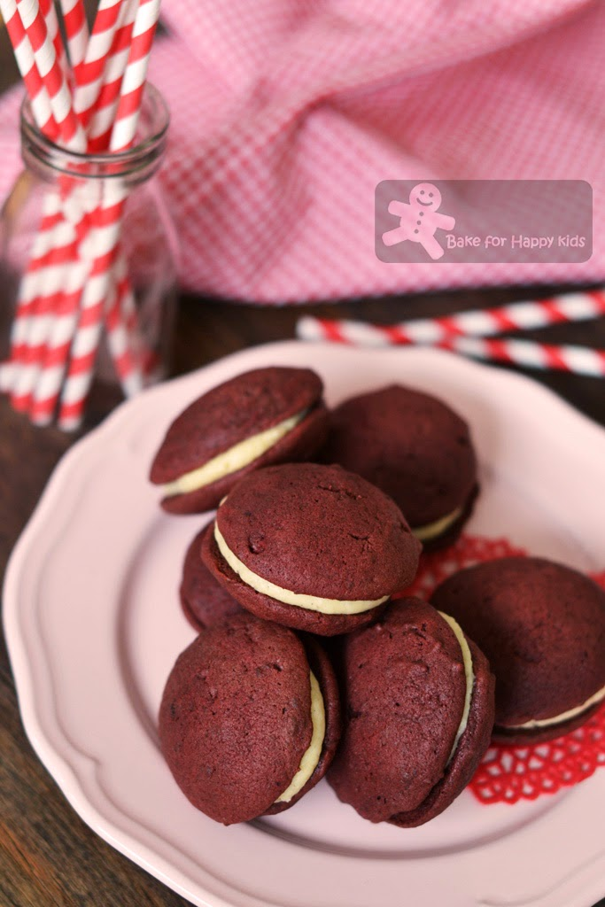 red velvet Whoopie pie made with Bobby Flay recipe
