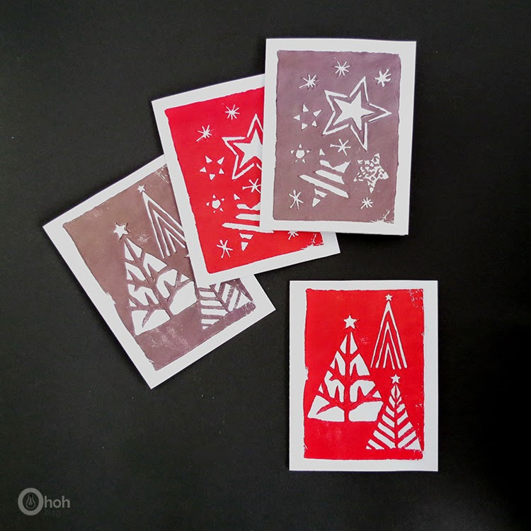 Stamped greeting cards