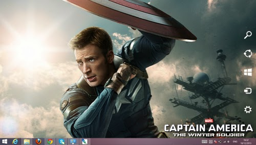 Captain America The Winter Soldier Theme For Windows 7 And 8 8.1