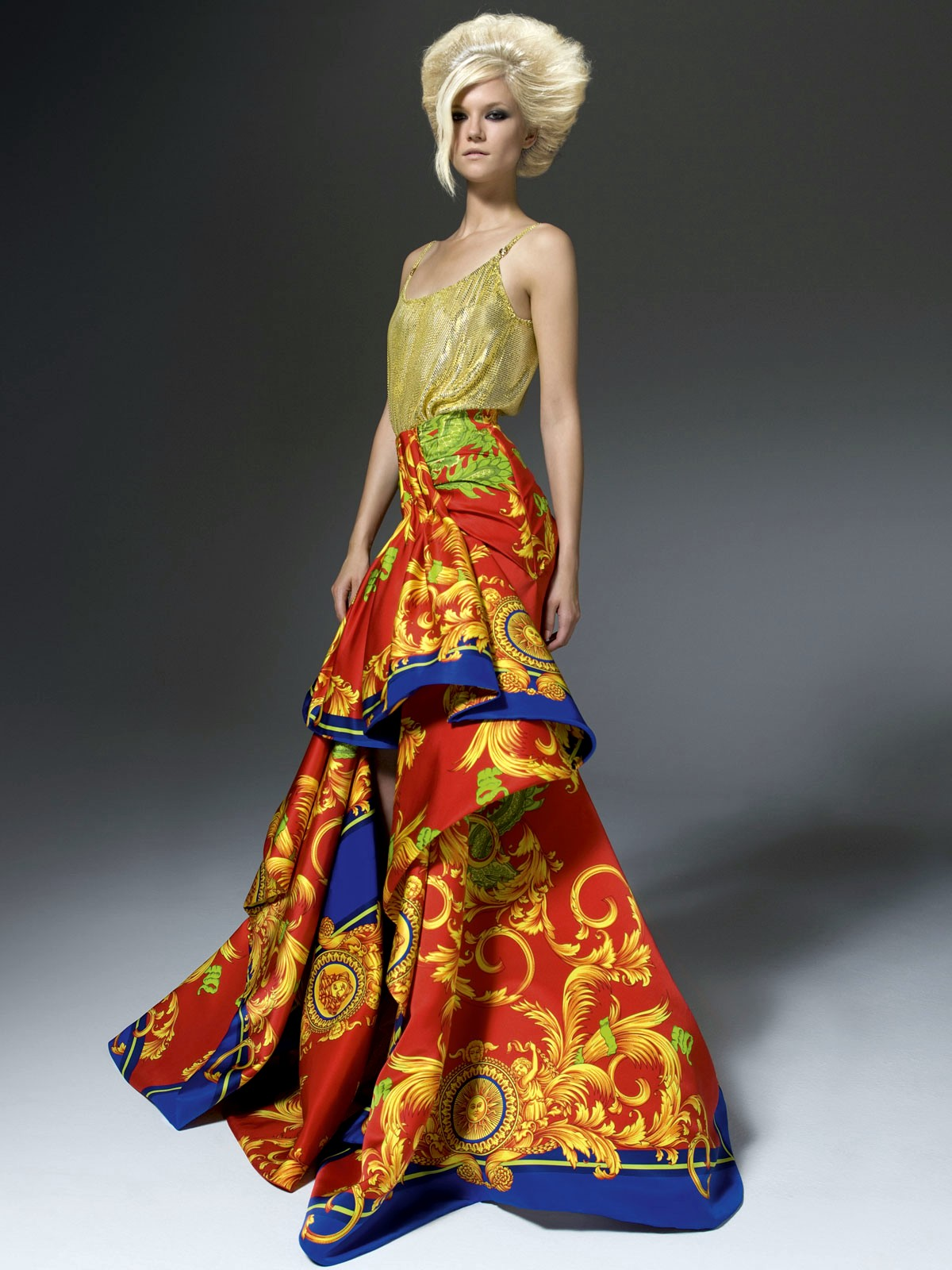 Versace Fall Winter Ready To Wear Collection 2012 Womans Wear Casual Dresses 2012 13 By