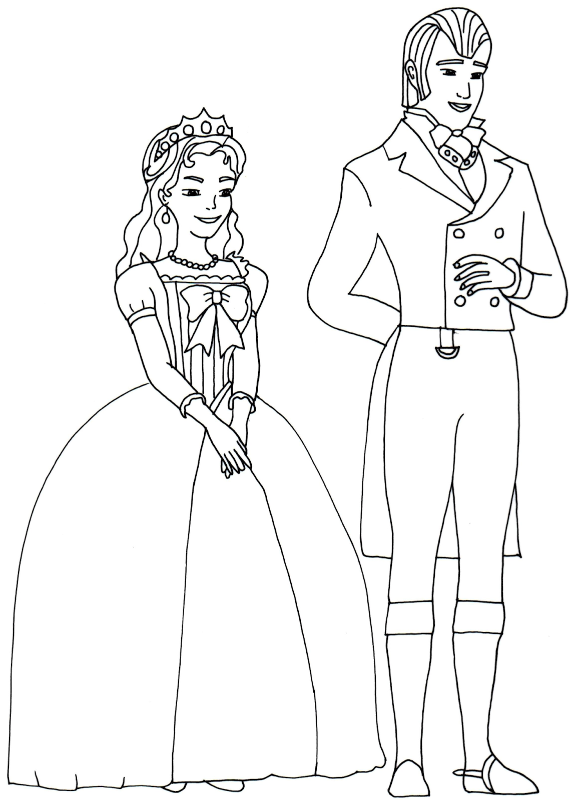 Free Printable King And Queen Sofia The First Coloring Page