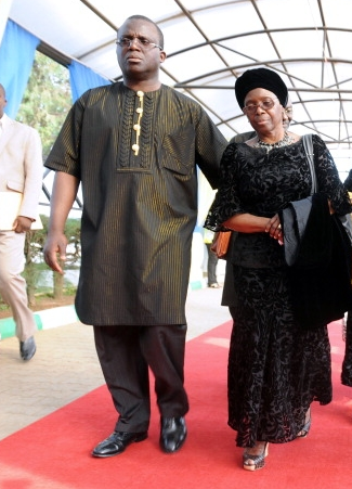 Chinua Achebe's son and wife