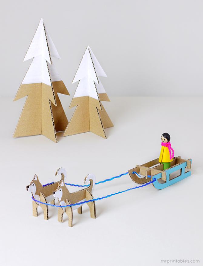 manualidades con papel navidad DIY