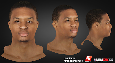 NBA 2K14 Damian Lillard Cyberface Mod