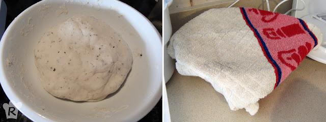Cubre la masa con un trapo limpio y seco