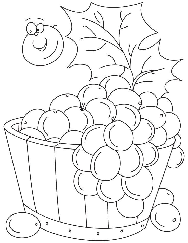 grapes coloring pages for kids - photo#5