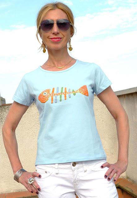 imagen camiseta azul cielo de Dolce y Gabbana