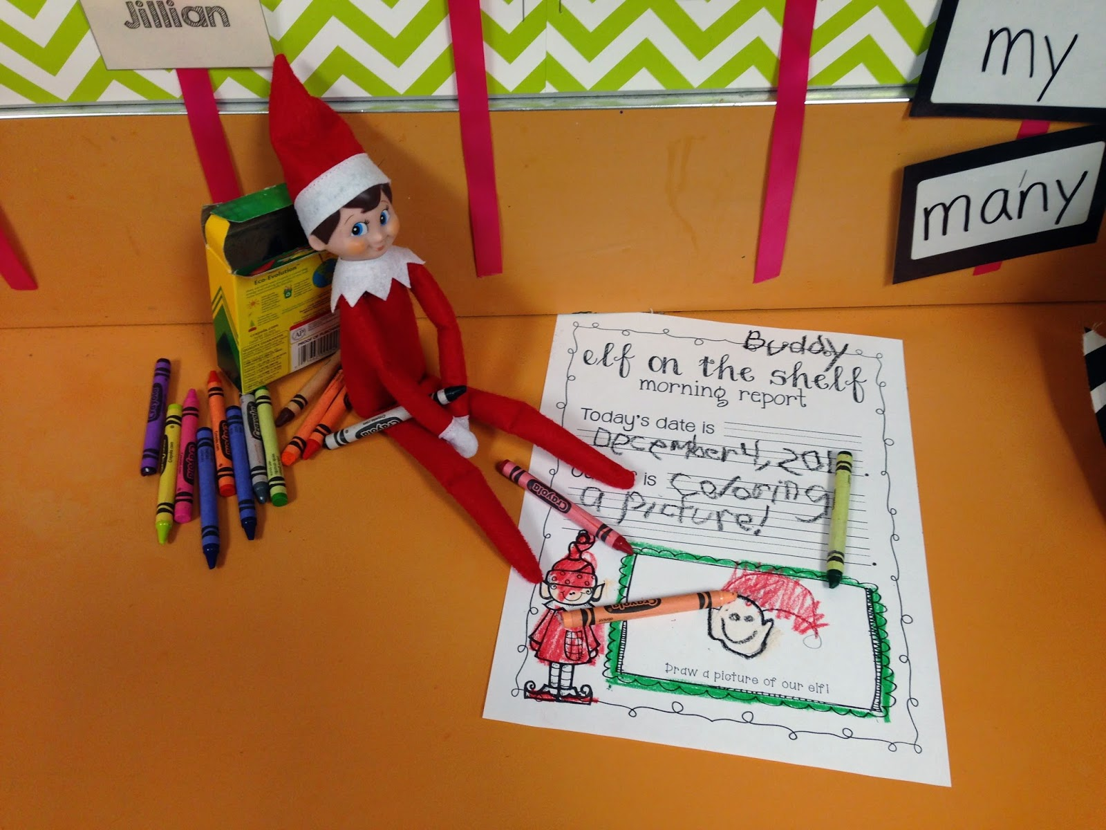 Classroom Elf Ideas ~ All for the love of teaching elf on shelf classroom