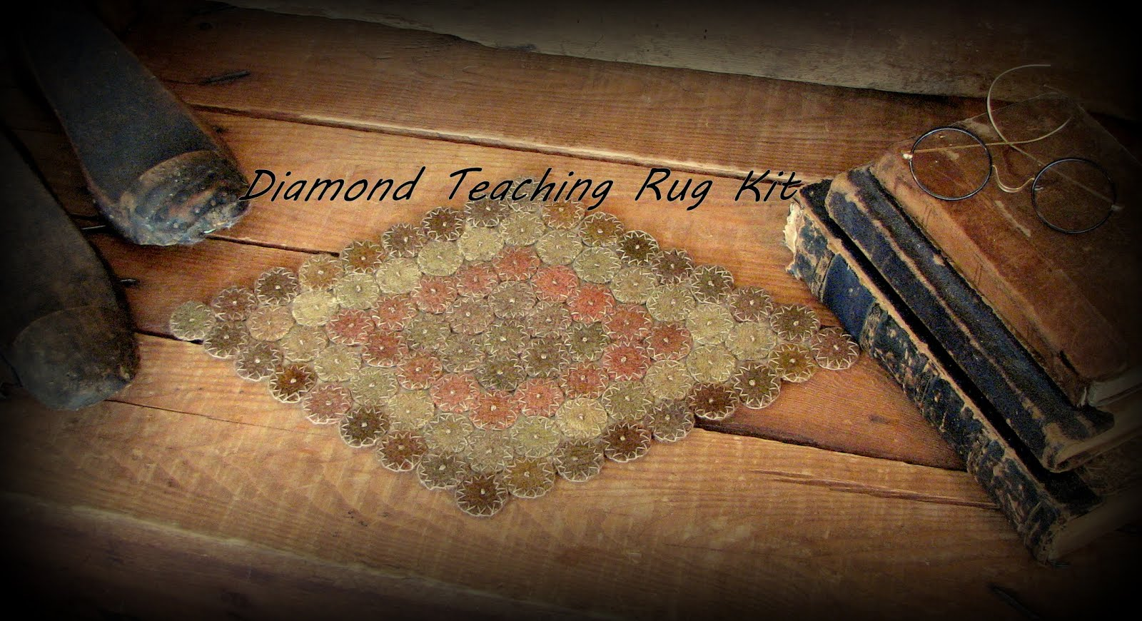 The Diamond Vintage Wool Teaching Rug Kit