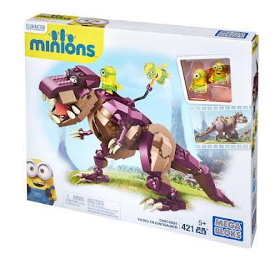 TOYS : JUGUETES - MEGA BLOKS Minions Paseo en dinosaurio | Dino Ride Producto Oficial Película 2015 | Mattel CPC51 | Piezas: 421 | Edad: +5 años Comprar en Amazon España & buy Amazon USA