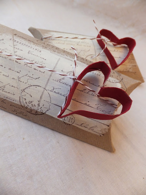 Recycling Toilet Rolls - pillow boxes {brown paper packages tied up with string}